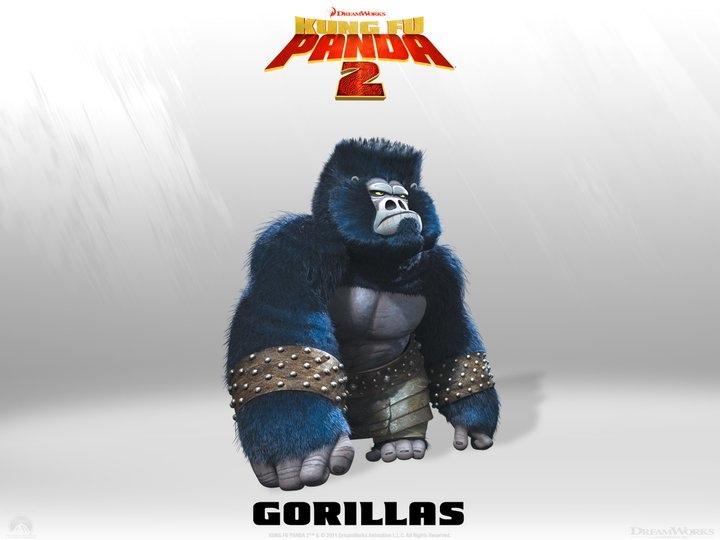 Los Gorilas de Kung Fu Panda