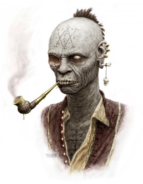 Zombies Piratas en Aguas Misteriosas y Fumando