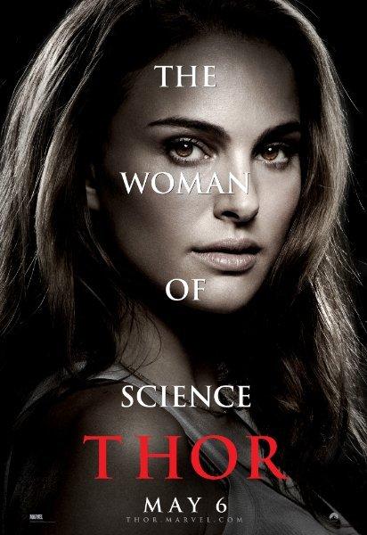 La chica de ciencia y tambien de Thor en la tierra