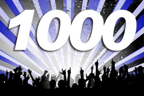 Despues de mucho trabajo llegamos a los 1000 posts