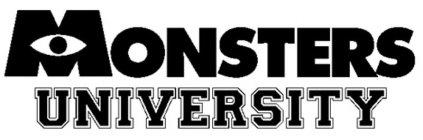 El logo de la universidad de los monstruos!