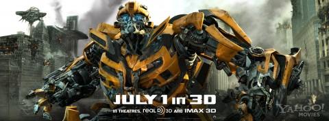 Bumblebee en el banner de Transformers 3