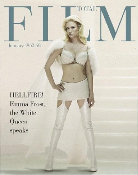 January Jones como Emma Frost la Reina Blanca