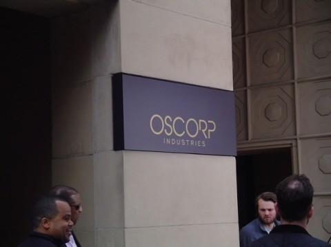 Desde el Set en Nueva York OSCORP Spider Man