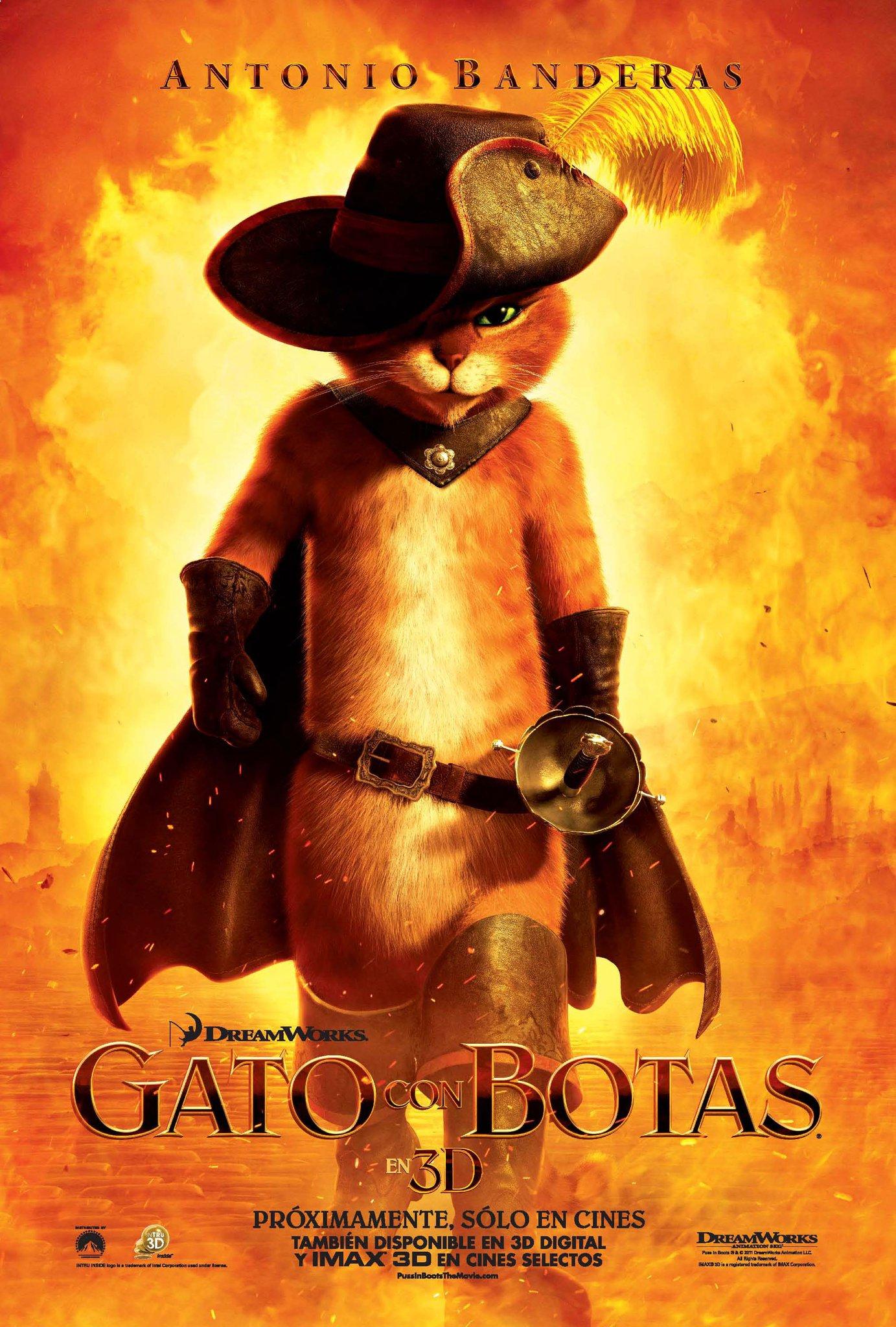 Antonio Banderas es El Gato con Botas
