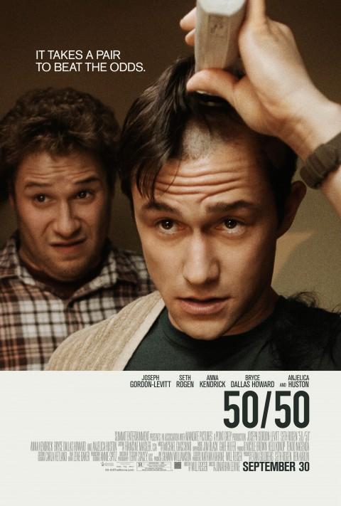 50/50 Seth Rogen Joseph Gordon Levitt Poster