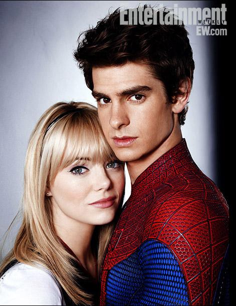 Emma Stone Andrew Garfield Peter Parker Spider-Man Gwen Stacy