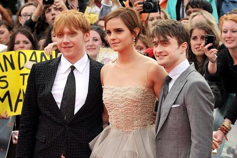 Daniel Radcliffe Emma Watson Rupert Grint Harry Potter y las reliquias de la muerte parte 2