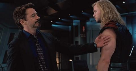 Tony Stark con THor