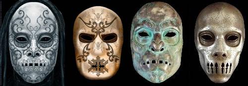 Las mascaras de los Mortifagos