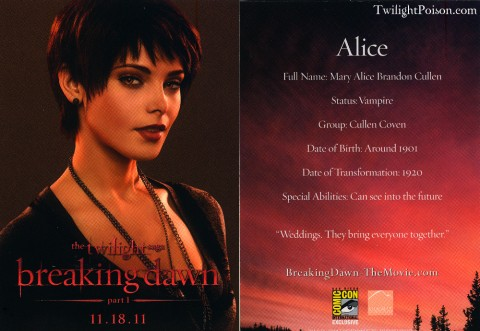 Alice Breaking Dawn Card
