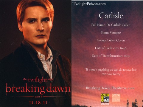 Carlisle Breaking Dawn Card