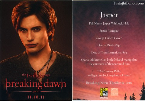 Jasper Breaking Dawn Card