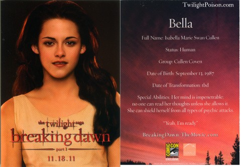 Bella Swan Breaking Dawn Card