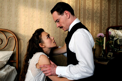a dangerous method kiera knightley michael fassbender