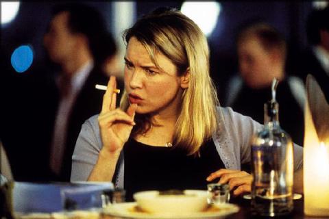 Bridget Jones Fumando