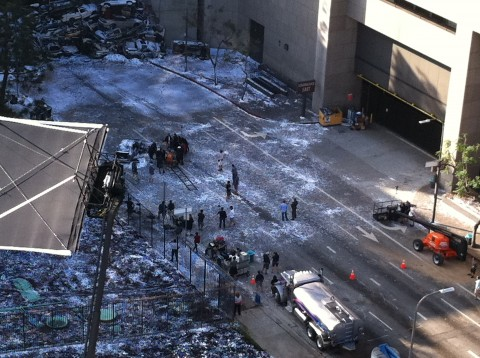 The Dark Knight Rises Filmacion Los Angeles Anne Hathaway