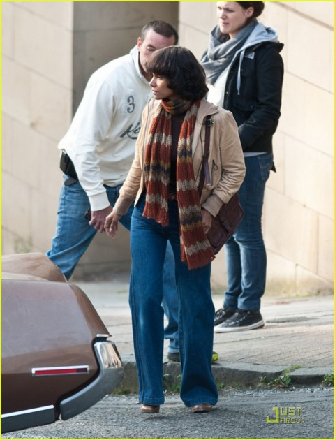 "Halle Berry joins a star-studded cast on the location set of ""Cloud Atlas,"" a new film shooting in Glasgow, Scotland made to resemble San Francisco"