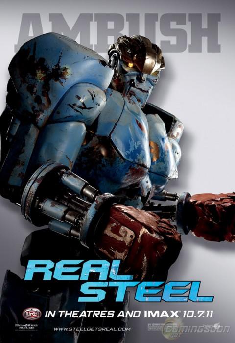 gigantes de acero ambush robots