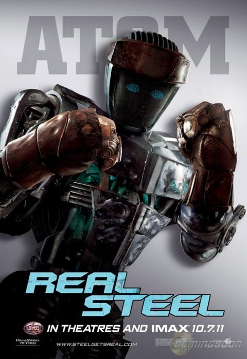 gigantes de acero atom robots