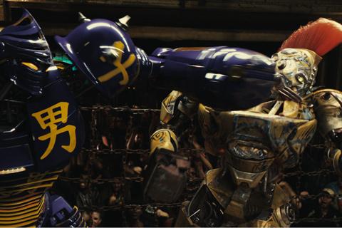 gigantes de acero robots peleando