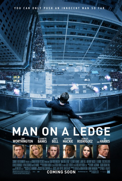 man on a ledge poster