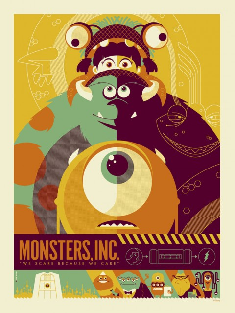 los monstruos en un poster totalmente cool