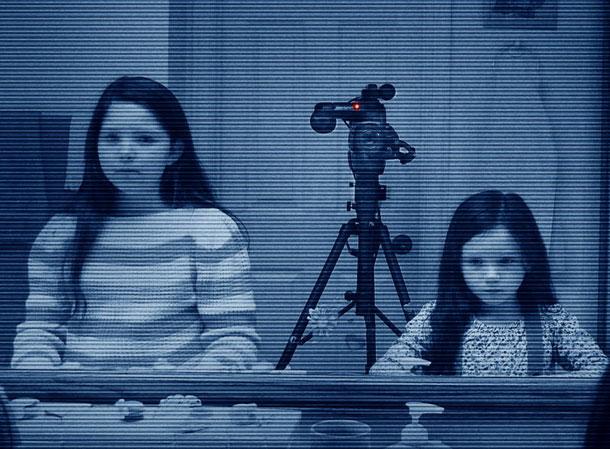 actividad paranormal 3 niñas camara