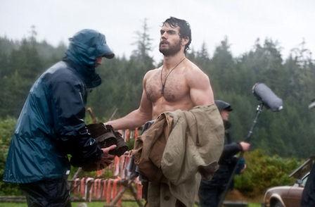 Superman sin camisa....