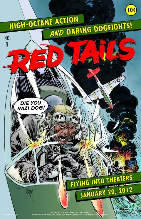 red tails comic poster