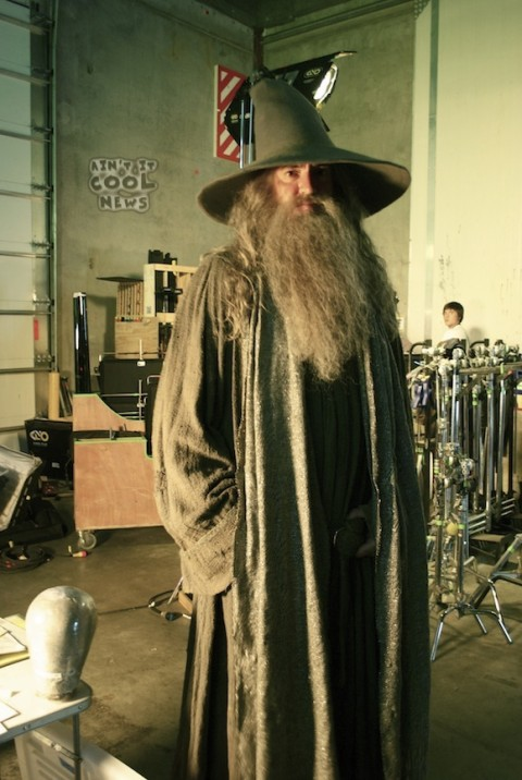 Gandalf en la prueba de vestuario