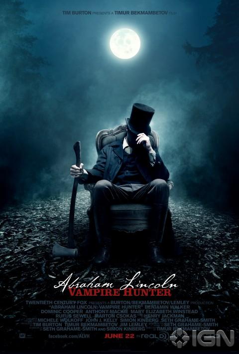 abraham lincoln cazador vampiros noche