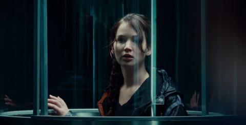 Jennifer Lawrence es 'Katniss Everdeen' en THE HUNGER GAMES.