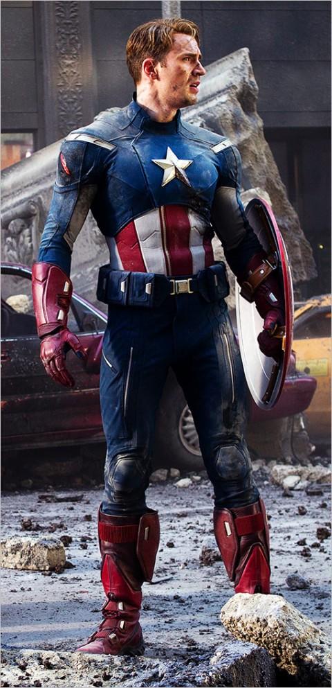 Capitán América despues de una dura batalla