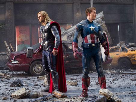 Thor y el Capitán América