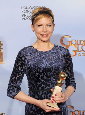 Michelle Williams con su Globo de Oro