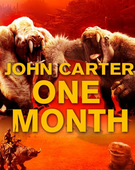 John Carter a un mes del estreno