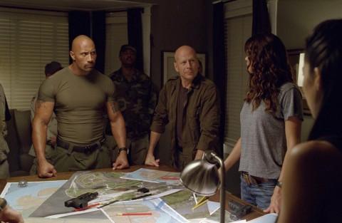 La Roca y Bruce Willis imponiendo la testosterona