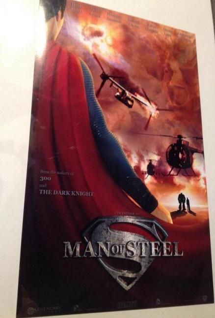 El posible póster de El hombre de acero