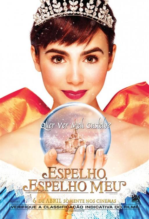La bella princesa Lily Collins como Blancanieves