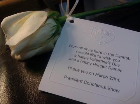 Acompañado de su rosa blanca