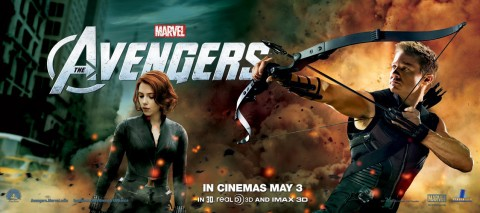avengers black widow hawkeye