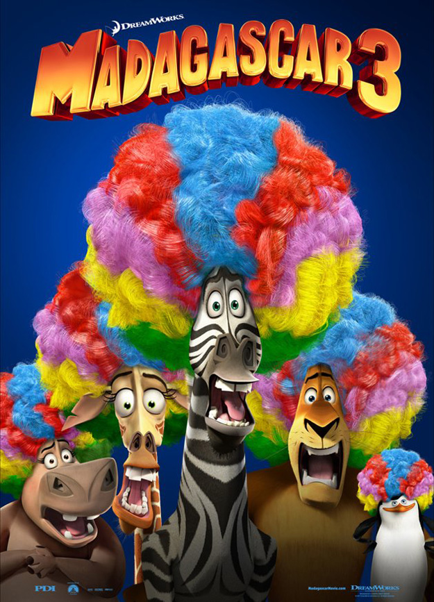 madagascar 3 poster afro