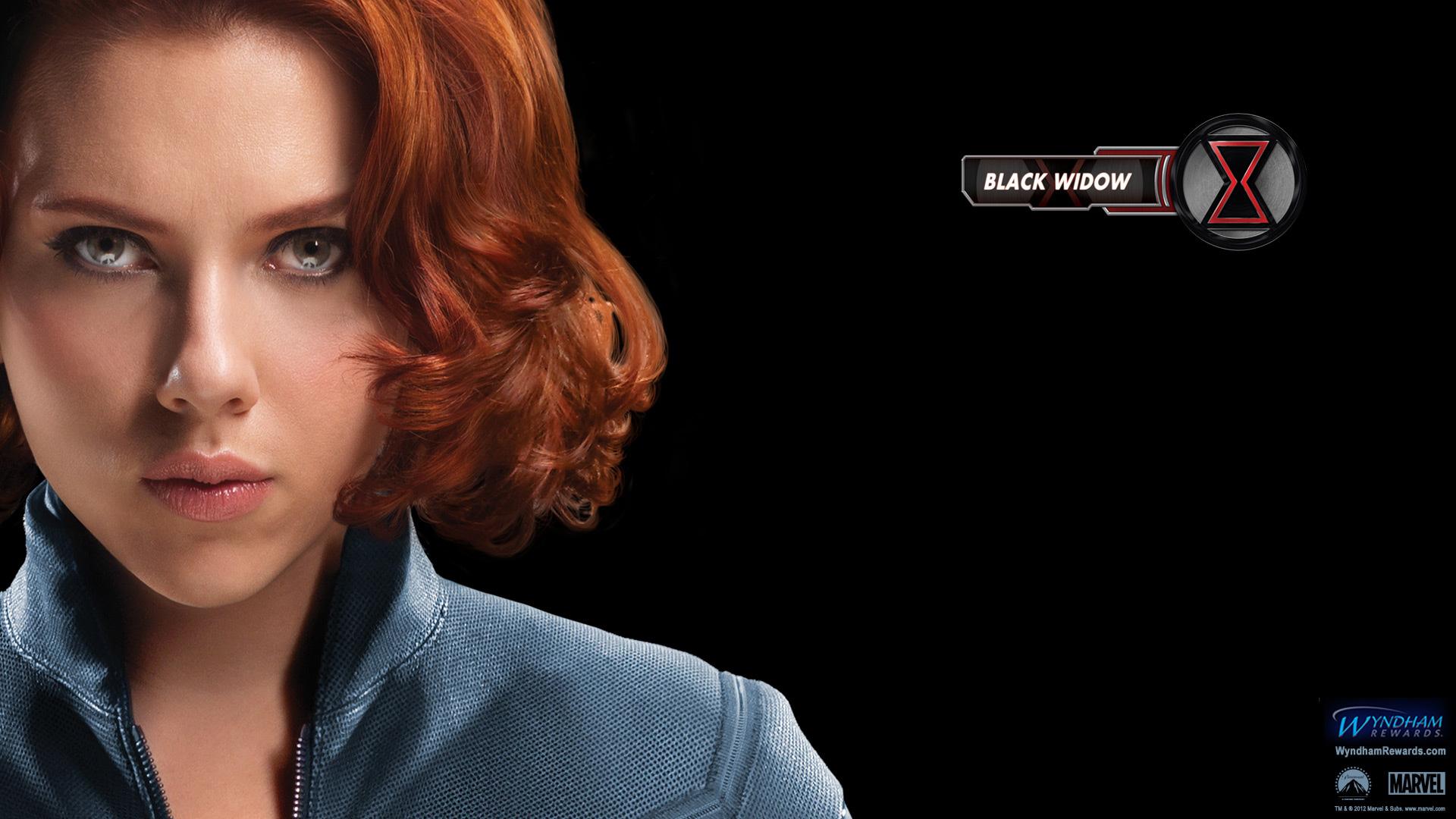 Wallpaper black widow Avengers scarlett johansson
