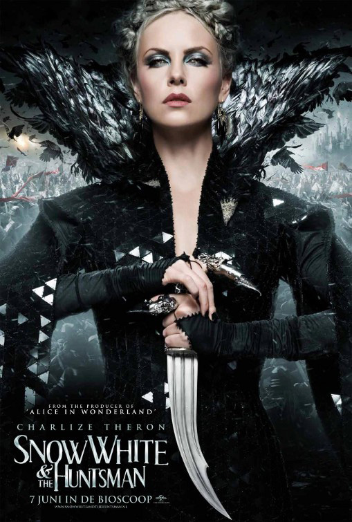 charlize theron reina bruja blancanieves cazador