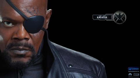 wallpaper nick fury avengers