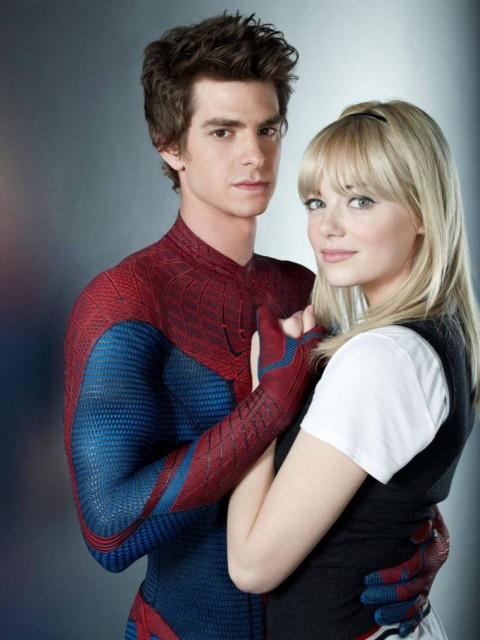 emma stone andrew garfield spiderman gwen