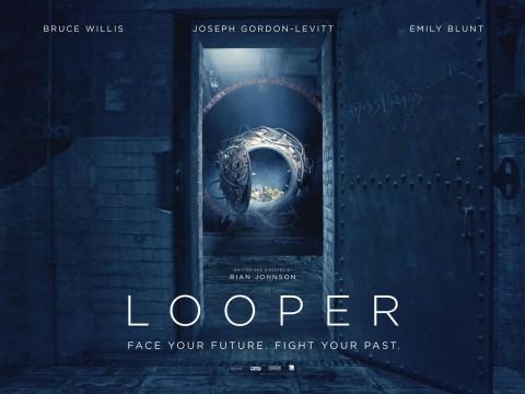 looper poster maquina tiempo
