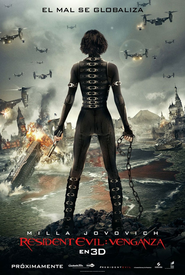 resident evil venganza poster
