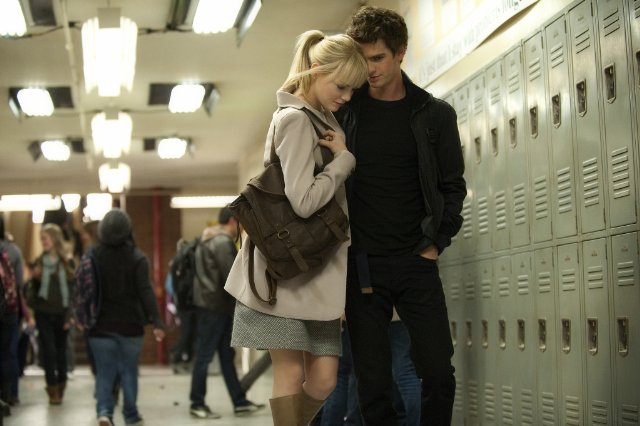gwen stacy peter parker 2012 garfield stone